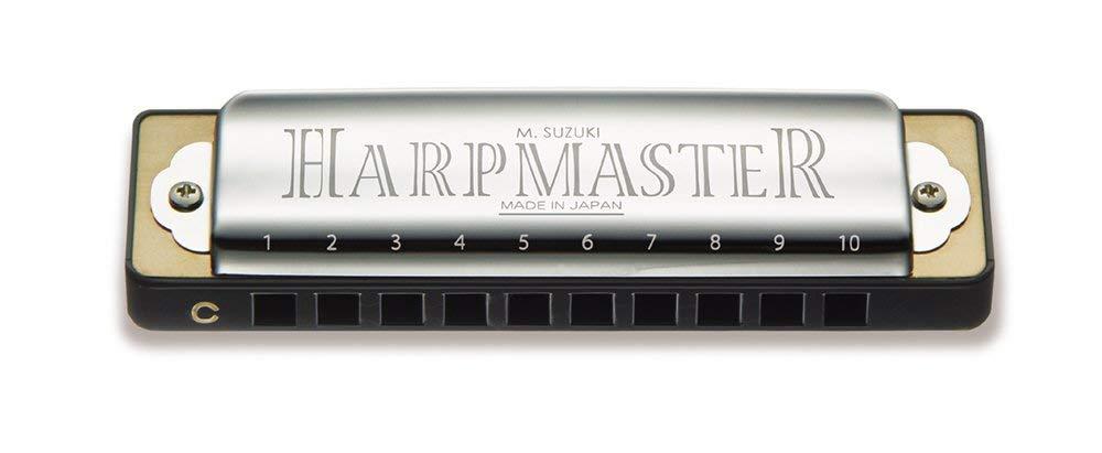 "SUZUKI スズキ 10穴ハーモニカ "" HARP MASTER "" がAmazonで良価格 (MR-200 C調)"