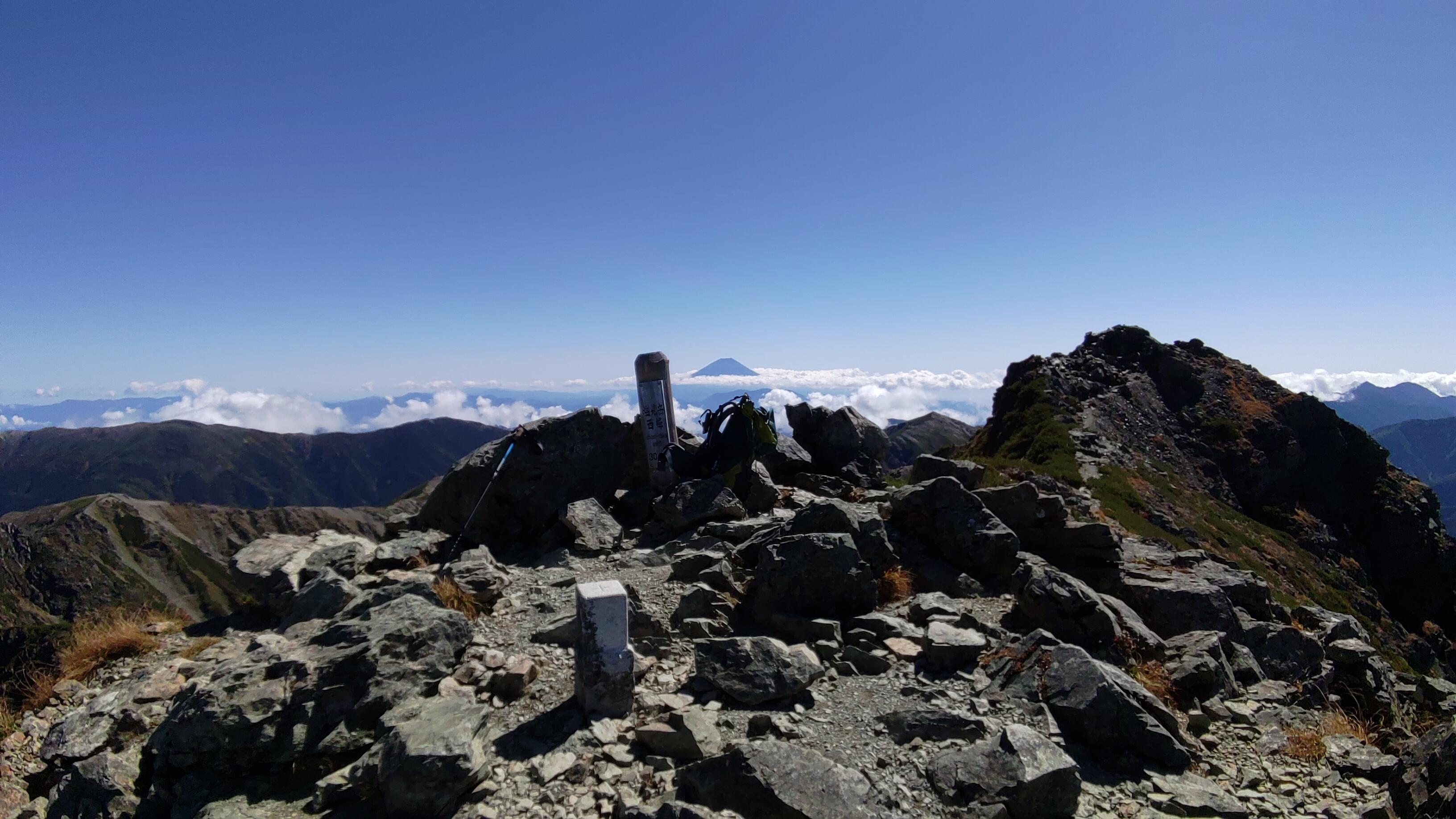 南アルプス 塩見岳(3047m) 登山 【2018/09/27~29】☆2日目と3日目の写真☆