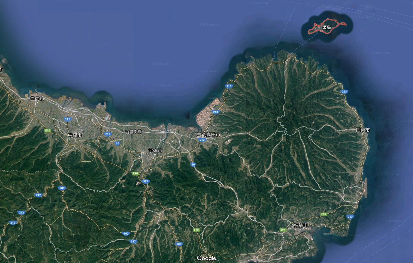 大分県 姫島村 (国東 半島)にIT企業のサテライトオフィス(リモートワーク)があった。