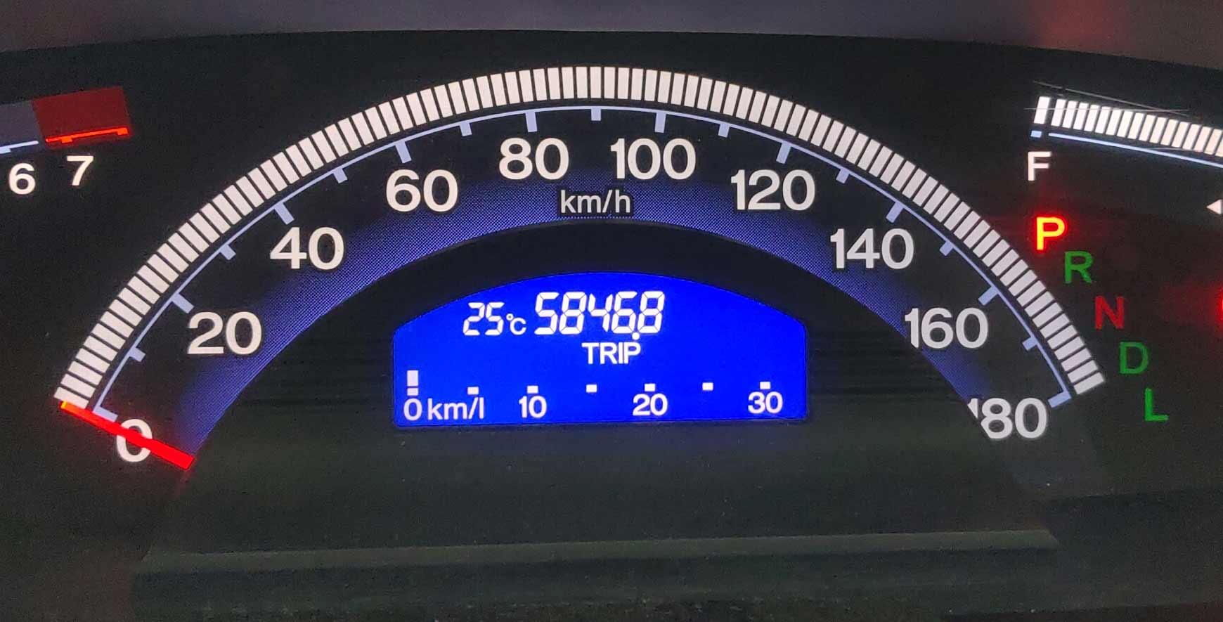 日本の本州ほぼ1周(約5900km)にかかったガソリン代とフリードスパイクの燃費